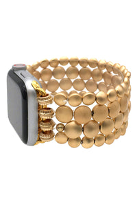 Gold Beaded Apple Band