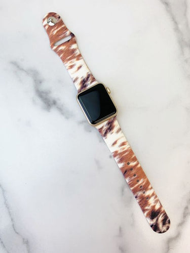 Cowhide Silicone iWatch Band