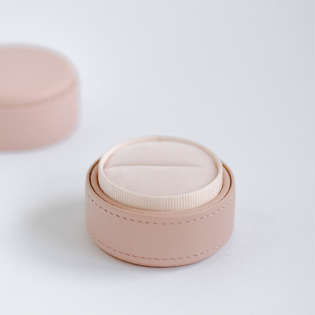pink leather ring box australia