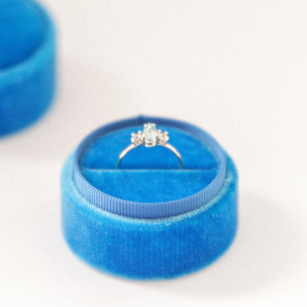 French Blue Ring Box