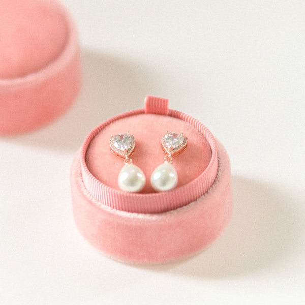 Earring Box - Dusty Rose