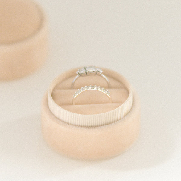 Champagne - Double Ring Box
