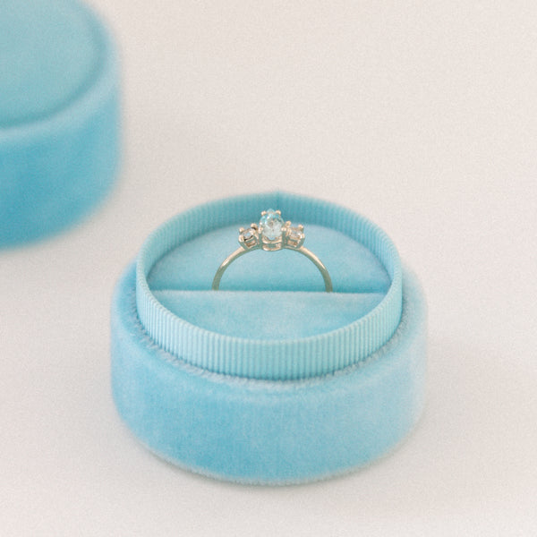 Light Blue Ring Box