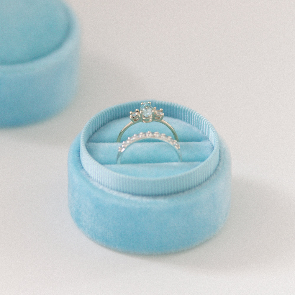 Light Blue - Double Ring Box
