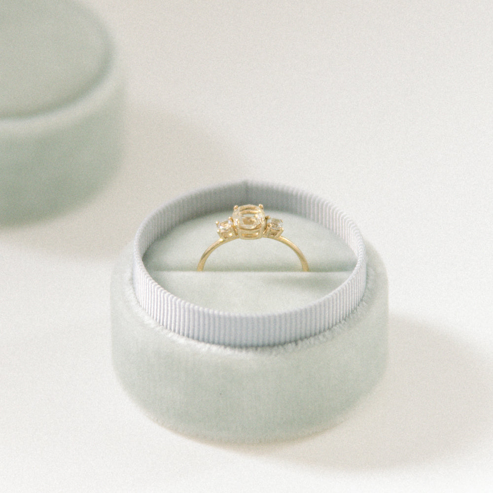 Light (Minty) Grey Ring Box