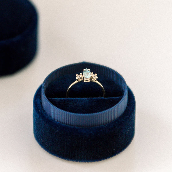 Navy Ring Box