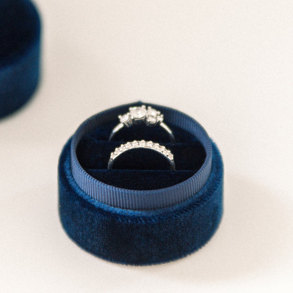 Navy - Double Ring Box