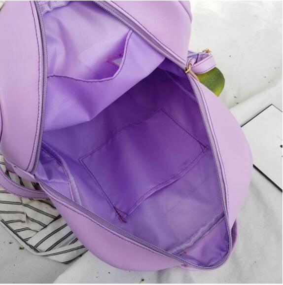 White Ita Backpack Bag with Moon Shape Window