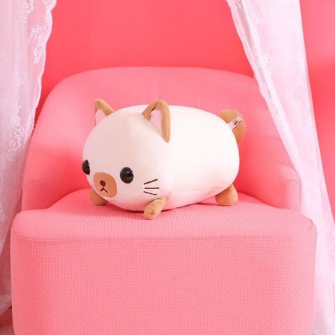 "Super Soft Kawaii Cat Plush 18""/45cm Tan"