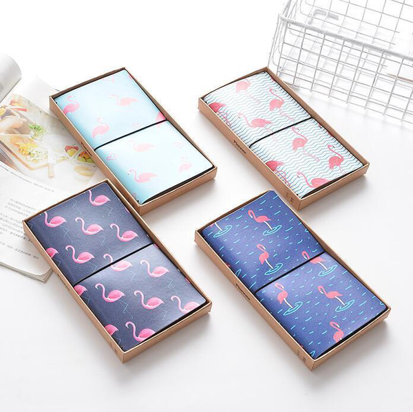 PU Leather Cover Planner Notebook Flamingo Prints