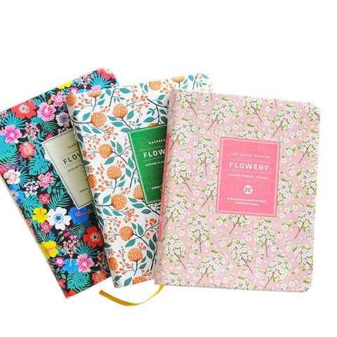 PU Leather Cover Planner Notebook Floral Designs