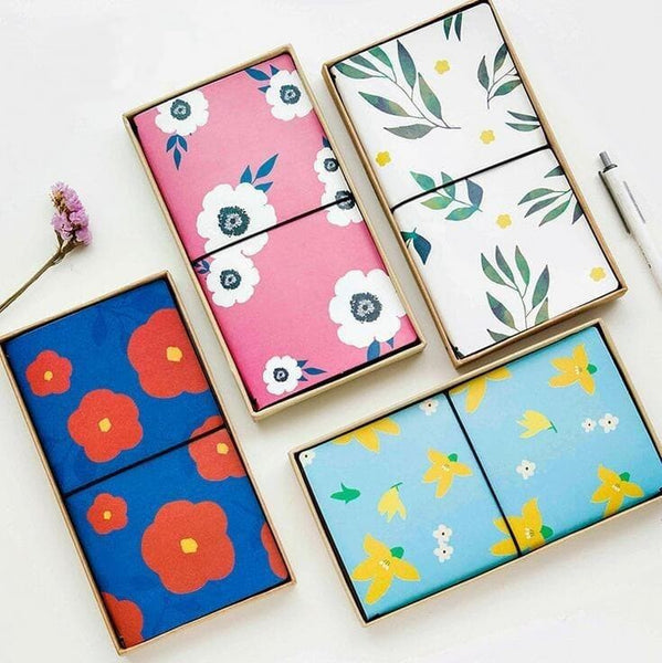 PU Leather Cover Planner Notebook Floral Prints