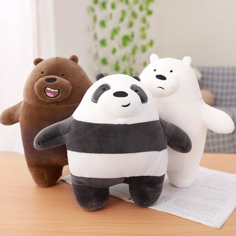 We Bare Bears Plush Bear Set of 3