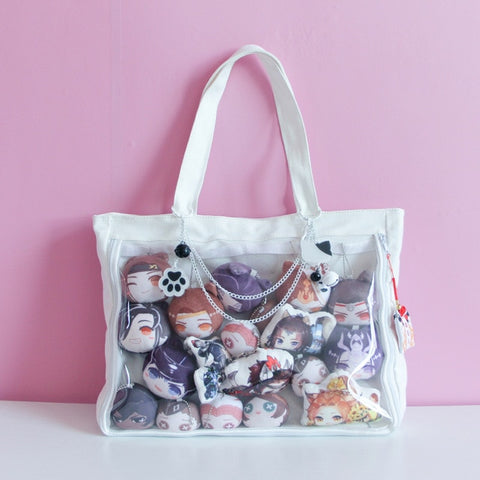 White Japanese Ita Lolita Canvas Handbag