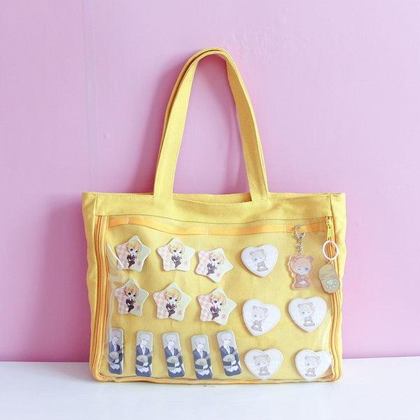 Yellow Japanese Ita Lolita Canvas Handbag