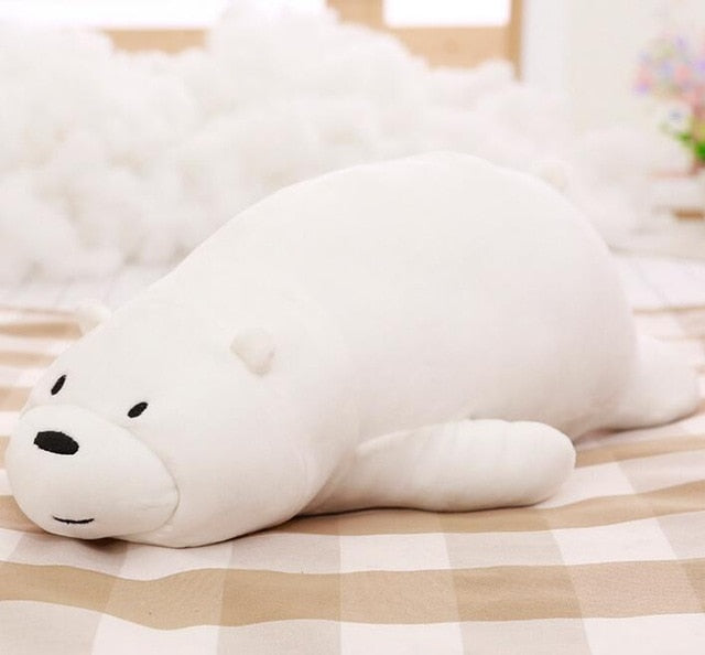 We Bare bears Lying Stackable Plush Stuffed Animal - choose color