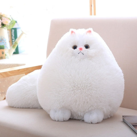 White Kawaii Fluffy Kitty Plush Toy Stuffed Cat