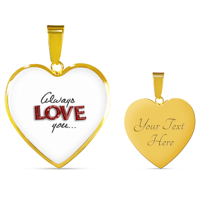 Personalized Luxury Gold/Silver Heart Necklace
