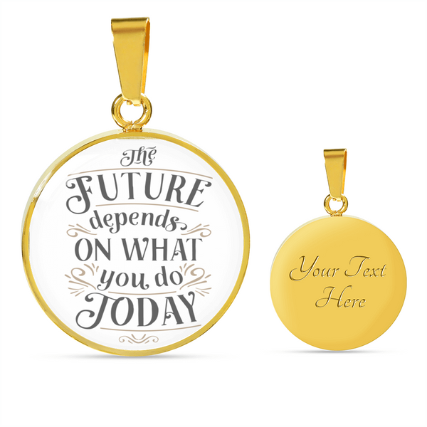 Personalized Luxury Necklace with Motivation Quote 1