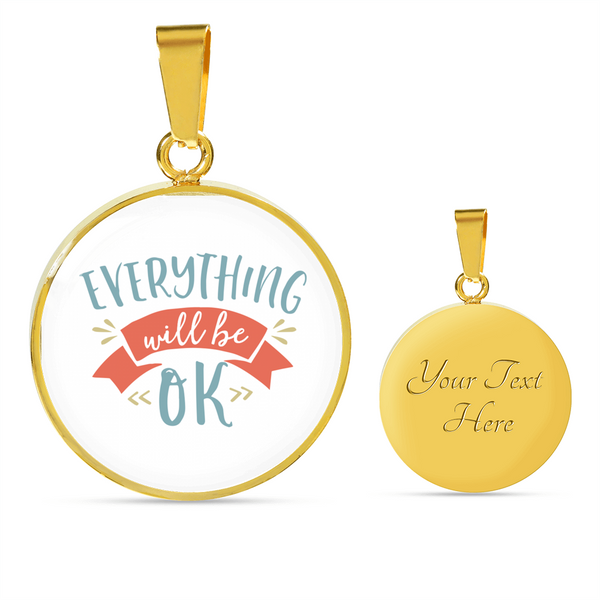 Personalized Luxury Necklace with Motivation Quote 2