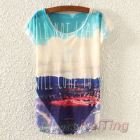New Vintage Spring Summer Women T-Shirt Animal Owl Printed
