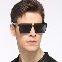 Oversized Steampunk Square Men Women Sunglasses