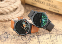 Unisex Watches Tropical Jungle Design Quartz Wristwatch