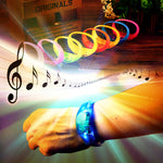 Luminous LED Sound Vibration Silicone Bracelet for Party