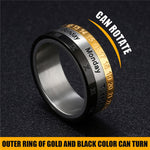 Men Luxury Rome Number 3 Colors Rotated Stainless Steel Ring