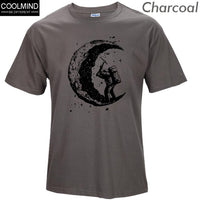 Digging The Moon Print 100% Cotton Men T-shirt
