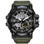 Waterproof Military Sport Silicone Strap LED Digital Watch