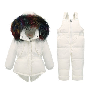 White Winter Snow Jacket Set