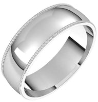 6mm Milgrain Band - I Forever Do