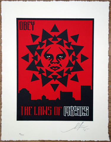 Laws of Physics (Letterpress Edition) - By Shepard Fairey - ShopModes