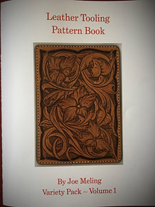 Leather Tooling Pattern Book by Joe Meling ~ Variety Pack vol.1