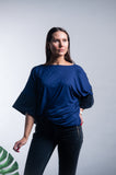 Jersey Cuffed-Sleeve Top