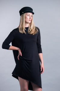 Slouchy Open Back Long Sleeve Midi Dress