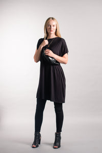 Asymmetric Boxy Knit Dress