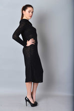 Load image into Gallery viewer, Asymmetric Midi Open Shoulder Knit Pencil Dress