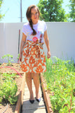 Floral flair skirt with pockets
