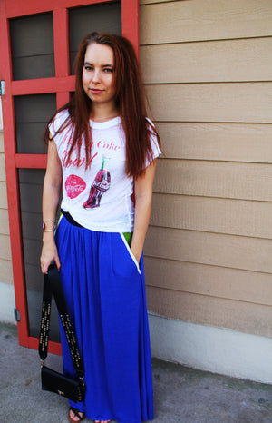 Maxi Skirt With Oversize Pockets