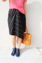 Load image into Gallery viewer, Embroidered Wrap Midi Skirt