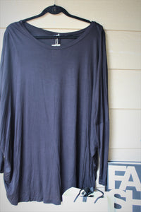 Boxy Long Sleeve Jersey Top