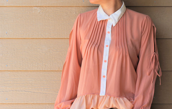 Chiffon Button-Front Blouse