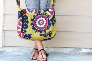 Loud Geometric Print Crossbody Tote