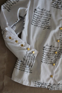 White Blouse With Print