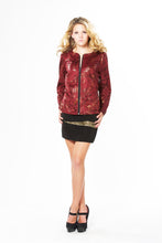Load image into Gallery viewer, Sparkle Floral Microsuede Jacket