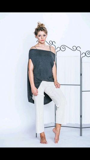 Slouchy Open-Back Top