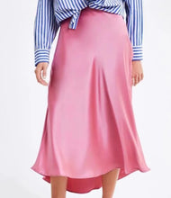 Load image into Gallery viewer, Pink A-line skirt