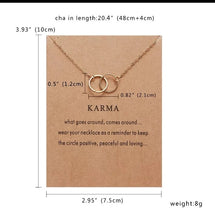 "Load image into Gallery viewer, Chain Necklace ""Karma"""